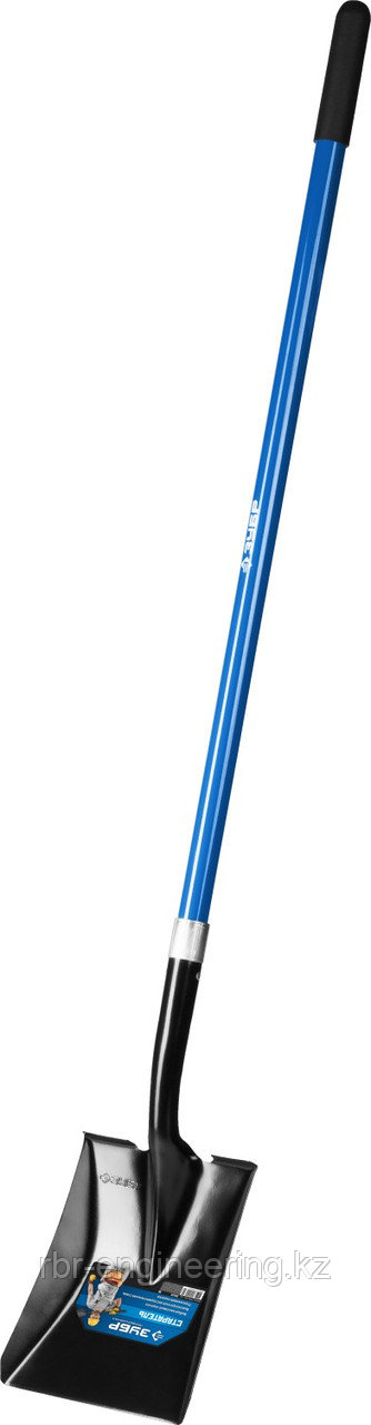 ЗУБР лопата совковая, фиберглассовый черенок, 295x230x1500 мм