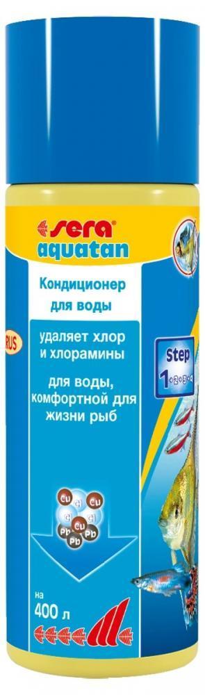 Кондиционер - хлорудалитель Sera Aquatan для очистки аквариумной воды - 100 мл