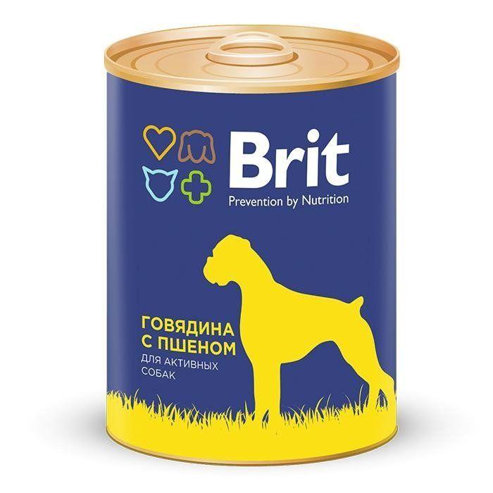 Консервы Brit Beef & Millet для собак (Говядина и пшено) - 850 г