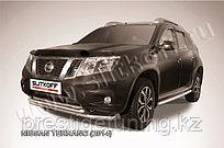 Защита переднего d57+d42 бампера двойная Nissan Terrano 2014-
