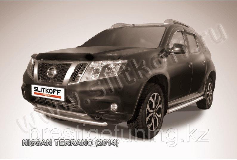 Защита переднего бампера d42 Nissan Terrano 2014-