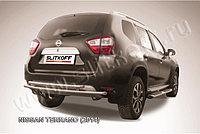 Защита заднего бампера d42+d42 двойная Nissan Terrano 2014-