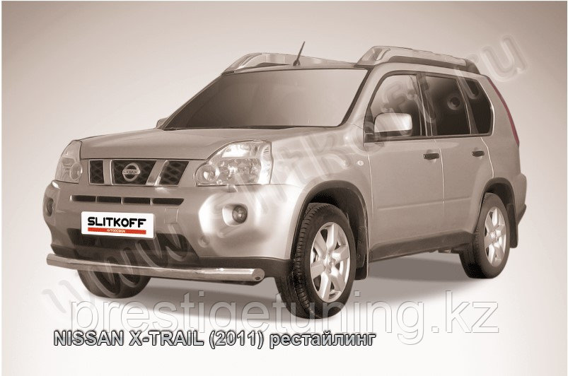 Защита переднего бампера d76 Nissan X-TRAIL 2011-13