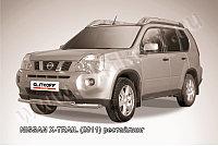 Защита переднего бампера d57+d57 двойная Nissan X-TRAIL 2011-13
