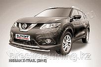 Защита переднего бампера d57 короткая Nissan X-TRAIL 2014-18