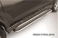 Защита порогов d57 с листом усиленная Nissan X-TRAIL 2014-18