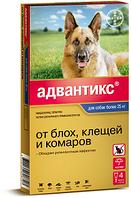Капли на холку от блох и клещей Адвантикс 400 для собак более 25 кг, Bayer - 4 пип.