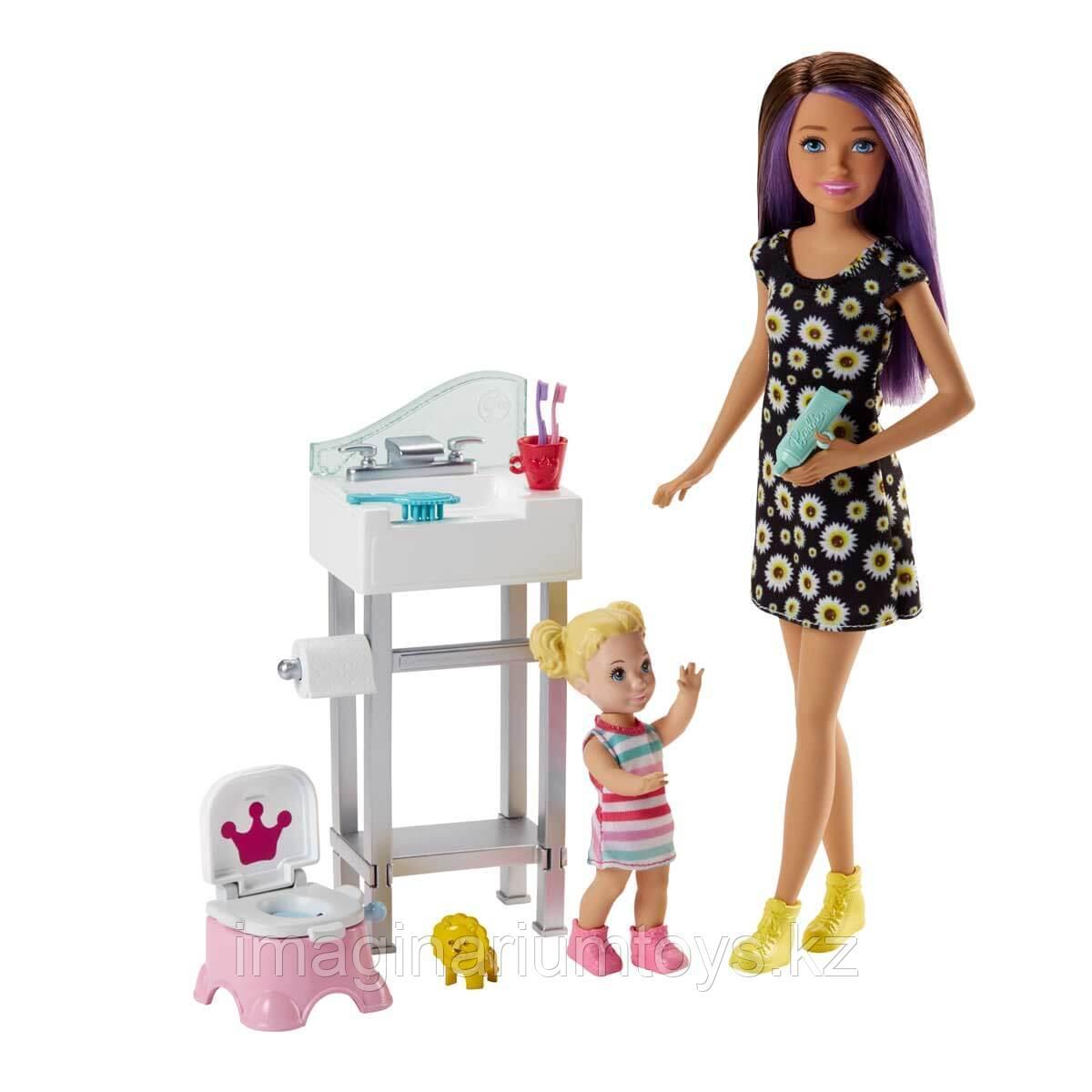 Барби Няня игровой набор с аксессуарами