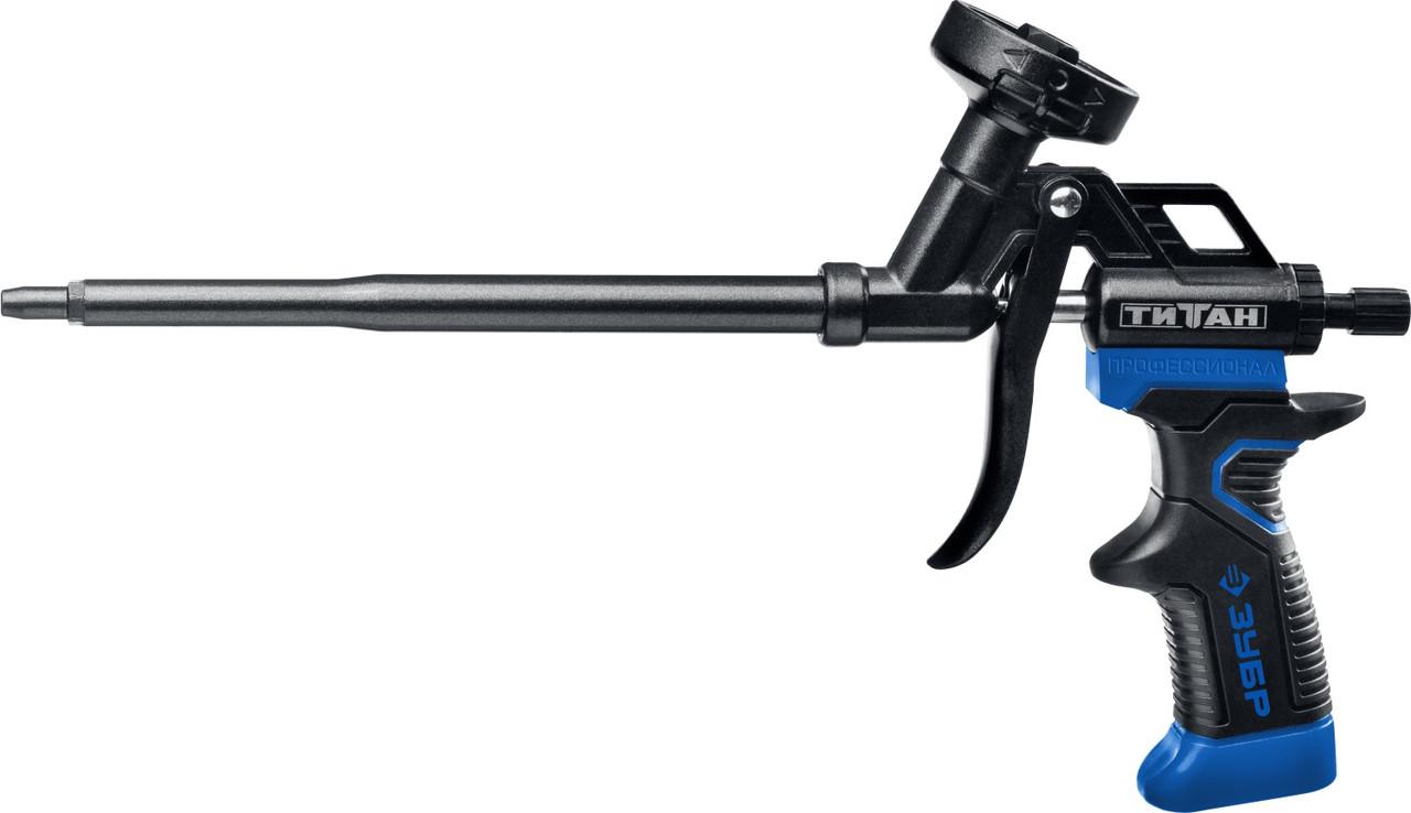 """ЗУБР пистолет для монтажной пены """"ТИТАН"""", металлический корпус, тефлоновое покрытие,"""
