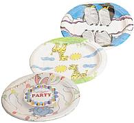 "Тарелка d 230мм, дизайн ""Рисуют дети"", MIX, Бумага, 50 шт"