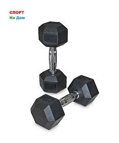 Гантели гексагональные 2 штуки по 6 кг