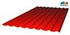 Профилированный поликарбонат, крачсный цвет, 0.8 мм