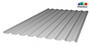 Профилированный поликарбонат, цвет серебро, 0.8 мм