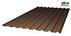 Профилированный поликарбонат, цвет тёмная бронза, 0.8 мм