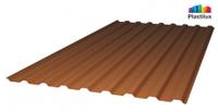 Профилированный поликарбонат, цвет бронза, 0.8 мм
