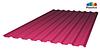 Профилированный поликарбонат, тёмно розовый цвет, 0.8 мм