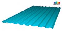 Профилированный поликарбонат, бирюзовый цвет, 0.8 мм