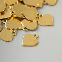 Декор для творчества металл 'Сердечко' золото набор 100 шт 0,8х0,8 см