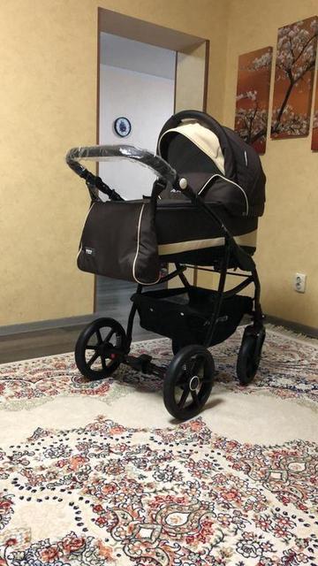 Детская коляска RIKO ALFA Ecco BASIC 2 в 1 (08 коричневый-бежевый) 2
