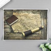 Декупажная карта 'Карта путешественника' формат А4, плотность 45г/м21 (комплект из 5 шт.)