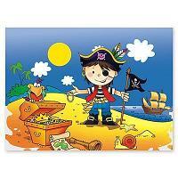 Скатерть праздничная Маленький пират, 180 х 130 см. (полиэтилен)