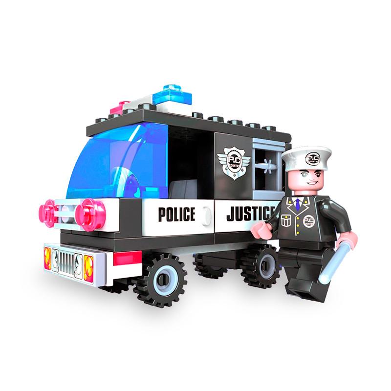 """Игровой конструктор Ausini 23201 (Патруль """"Полицейский фургон"""", 58 деталей)"""