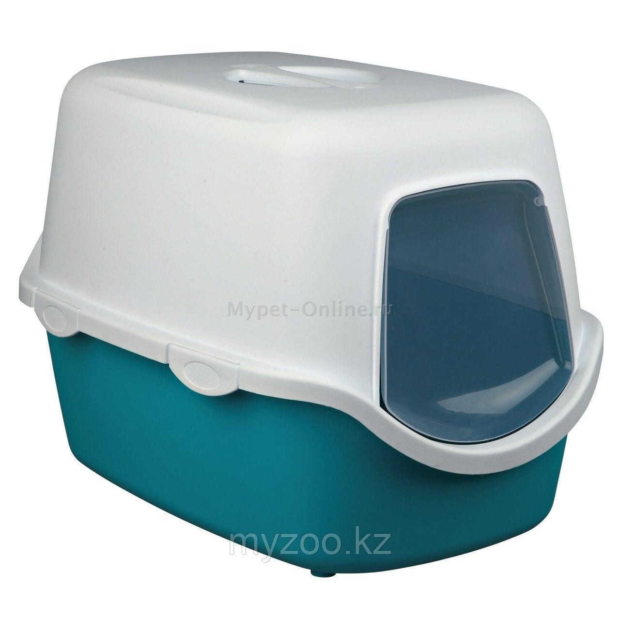 Туалет-био пластиковый с крышей,без угольного фильтра, с дверцей, размер 40×40×56см.