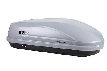 Бокс автомобильный Магнум 350 серый, тиснение «карбон» Быстросъём