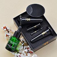Комплект аргановое масло и вакуумные силиконовые баночки для массажа лица + массажер