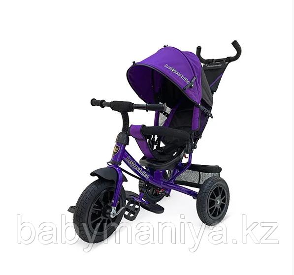 Велосипед Lexus trike 3-х колесный (Фиолетовый) , с ручкой управления, колеса надувные диаметром 12 и 10, д