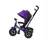 Велосипед Lexus trike 3-х колесный (Фиолетовый) , с ручкой управления, колеса надувные диаметром 12 и 10, д, фото 2