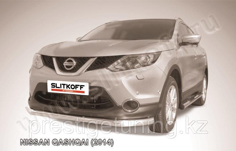 Защита переднего бампера d76 Nissan QASHQAI 2014-18