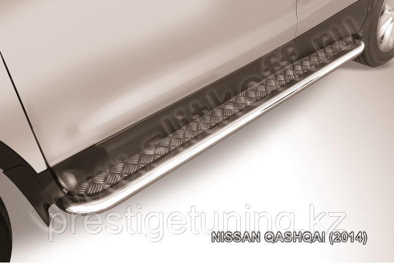 Защита порогов d57 с листом усиленная Nissan QASHQAI 2014-18