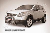 Кенгурятник d57 низкий c защитой картера Nissan QASHQAI 2007-11