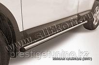 Защита порогов d57 труба Nissan QASHQAI 2007-11