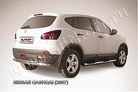 Защита заднего бампера d57+d42 двойная Nissan QASHQAI 2007-11