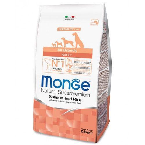 Корм Monge Adult Salmone & Rice для взрослых собак (Лосось и рис) - 15 кг
