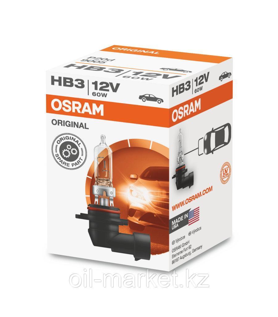 OSRAM Лампа галогенная HB3 60W 12V P20d ORIGINAL LINE