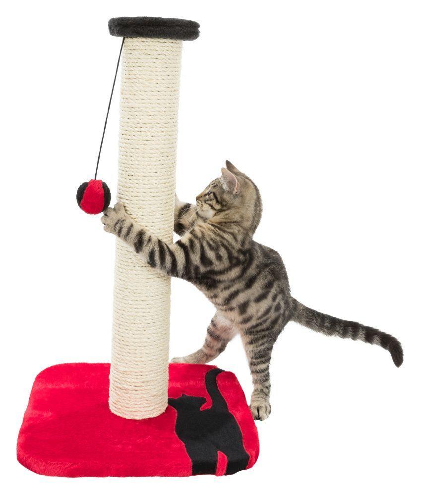 Когтеточка - столбик Trixie Mendi (Красный) - 34х34х61 см