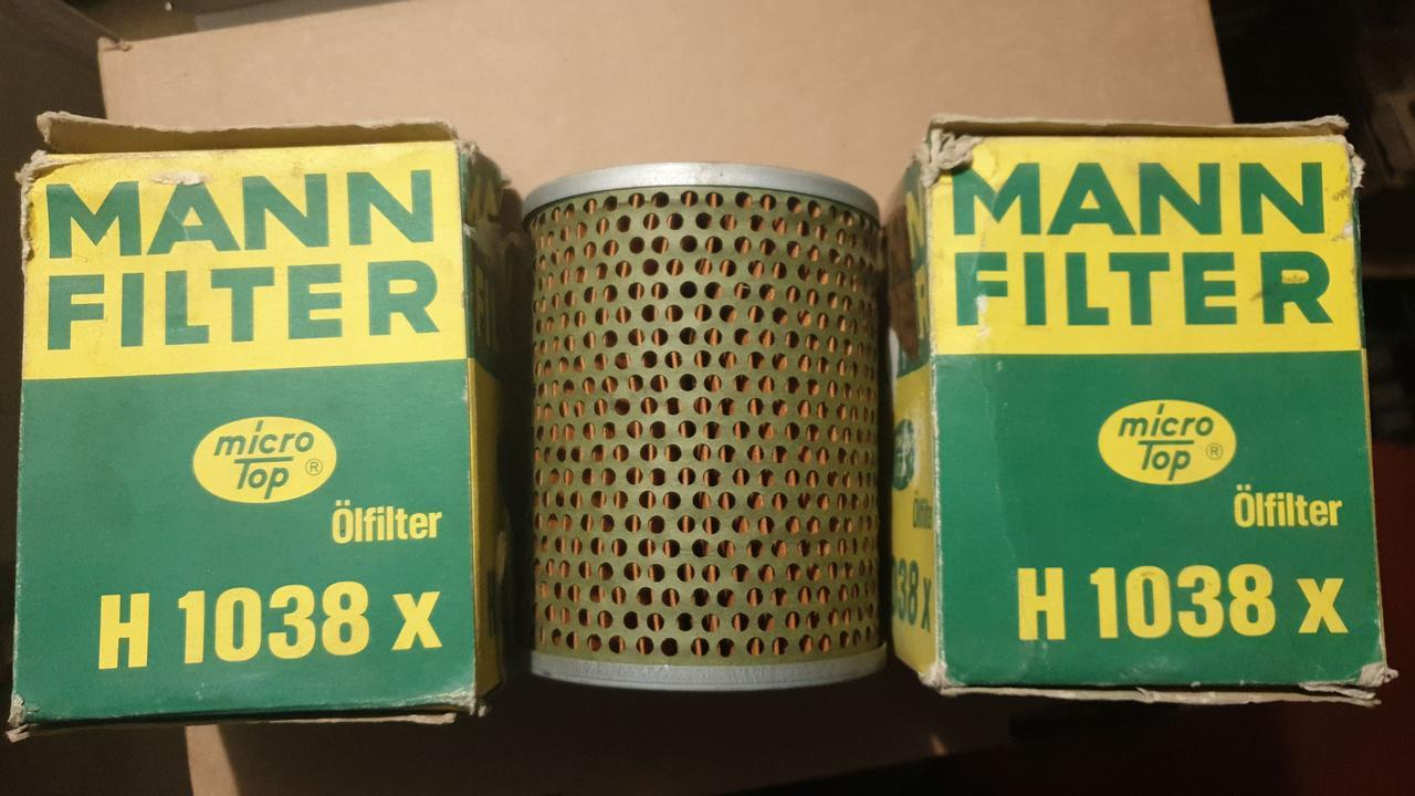 D94/H120 MANN H1038x Сменный элемент масляного фильтра