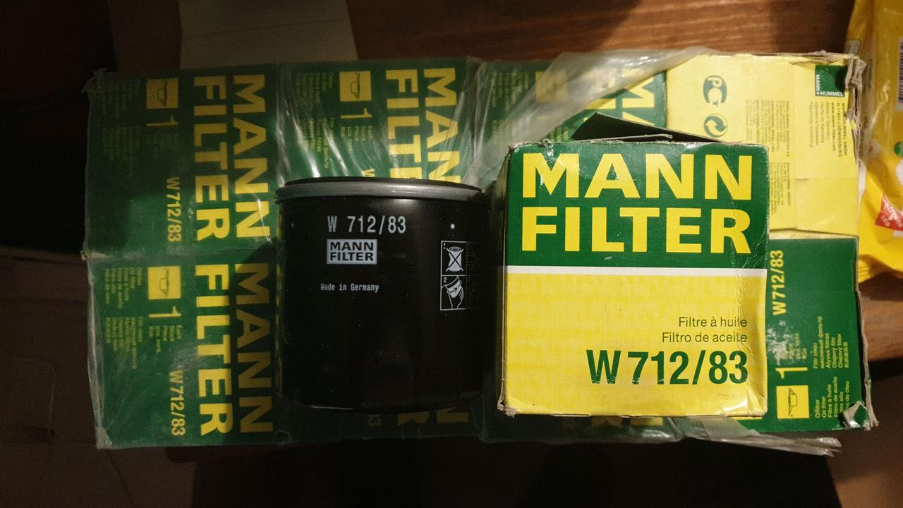 "D76/H79(3/4""-16 UNF) MANN W712/83 Масляный фильтр"