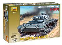 Сборная модель Немецкий средний танк T-III (F), 1:35, фото 1