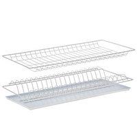 Комплект посудосушителей с поддоном 56,5x25,6 см, для шкафа 60 см, цвет белый