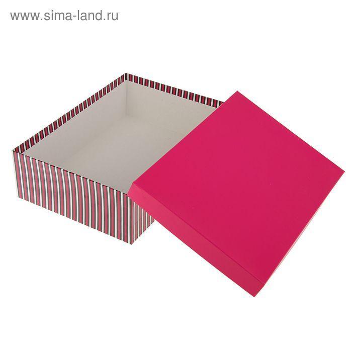 """Набор коробок 10 в 1 """"Полоски с красной крышкой"""", 36,5 х 26,5 х 12 - 23 х 13 х 3 см - фото 2"""