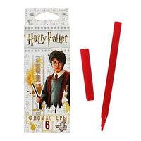 Фломастеры 6 цветов 'Гарри Поттер', картонная коробка, европодвес (комплект из 4 шт.)