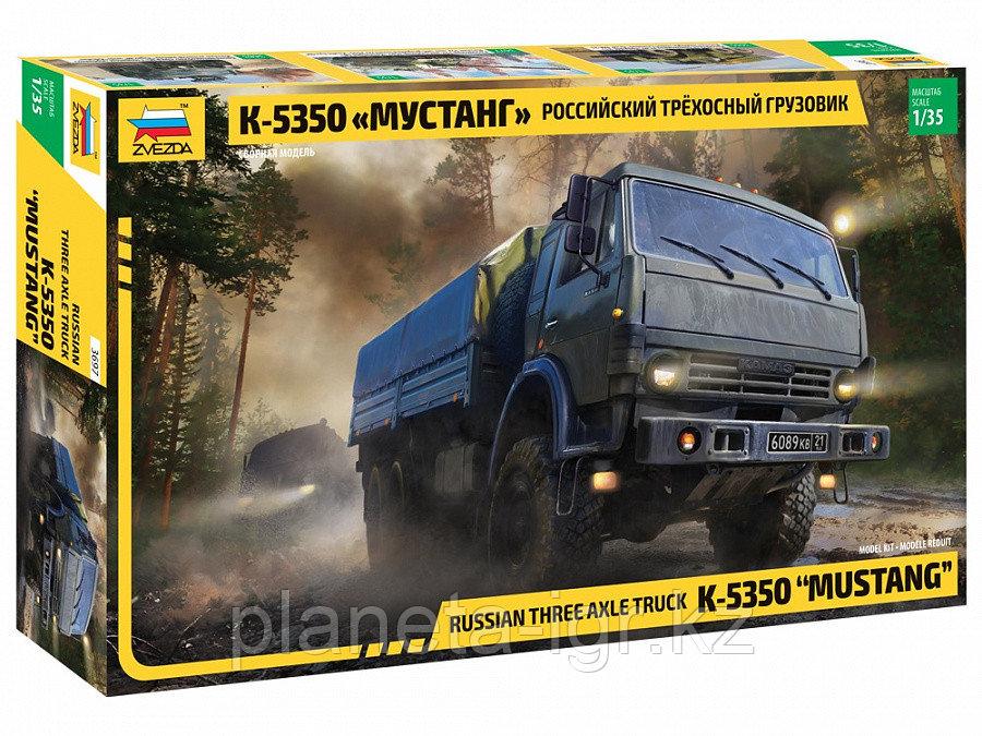 Сборная модель Российский трехосный грузовик К-5350 «Мустанг»