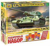Сборная модель Советский средний танк Т-34/76 (обр. 1942 г.) Подарочное издание, фото 1