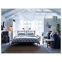 РИКЕНЕ Каркас кровати, серо-коричневый, Лурой, 160x200 см, фото 1