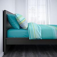 МАЛЬМ Каркас кровати, черно-коричневый, 90x200 см, фото 1