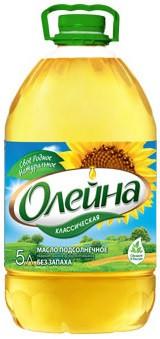 Масло подсолнечное «Олейна» 5 л.